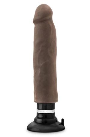 Au Naturel Magnum Vibrating Dong Chocolate 28cm - Dildo med vibrator 1