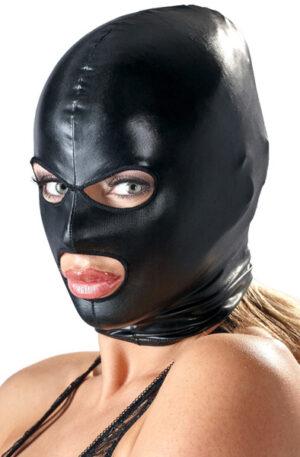 Bad Kitty Shiny Black Wetlook Mask - BDSM mask 1