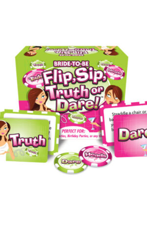 Ball & Chain Bride to Be Flip, Sip, Truth or Dare - Spel 1