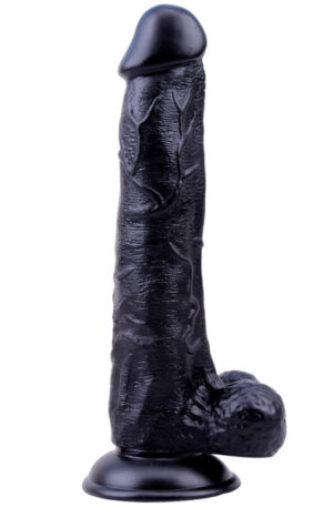 Black Veined Dong 25 cm - Dildo 1