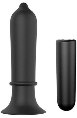 Cheeky Love Torpedo Plug Black - Analplugg med vibrator 1