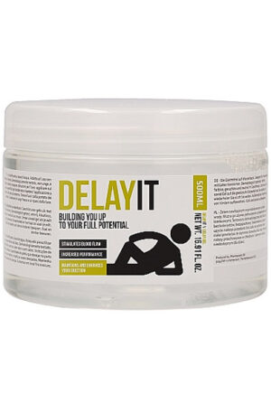 Delay It Building You Up To Your Full Potential 500 ml - Uthållighetshöjande gel 1