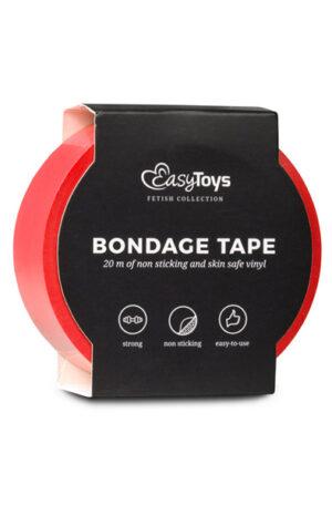 Easytoys Bondage Tape Red 20m - Bondage tejp 1