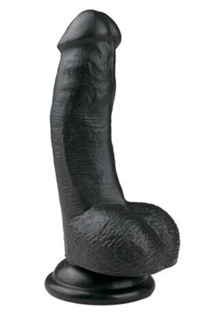 Easytoys Realistic Dildo Black 15cm - Liten dildo 1