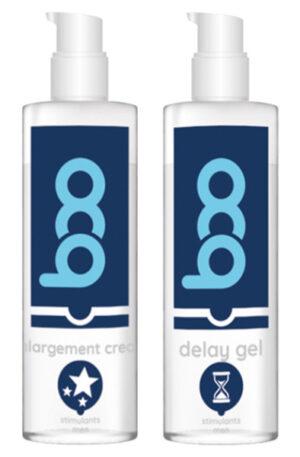 Erektionspaket BOO Erektionskräm + Fördröjnings gel - Paketerbjudande 1