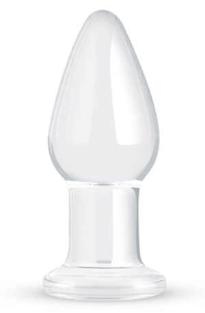 Gildo Clear Glass Buttplug 10cm Ø3,9cm - Analplugg i glas 1