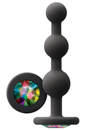 Glams Ripple Rainbow Gem Black - Analplugg 1