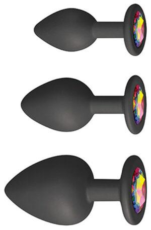 Glams Spades Trainer Kit Black - Analpluggar paket 1