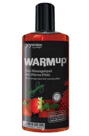 Joydivision Warm-up Massage Oil Strawberry 150ml - Massageolja Jordgubb 1