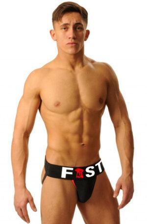 M&K Fist Logo Jock Black - Jockstrap 1