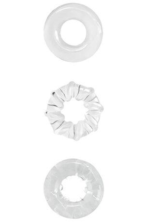 NS Novelties Renegade Dyno Rings Clear - Penisringar paket 1