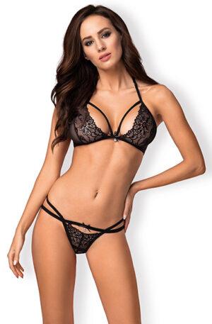 Obsessive 838-SET 2 pcs Set Black - Sexiga underkläder 1