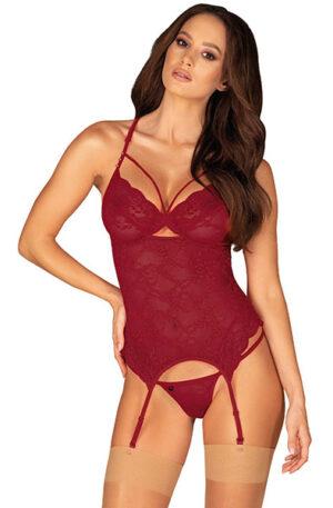 Obsessive Ivetta Corset & Thong - Sexiga underkläder 1