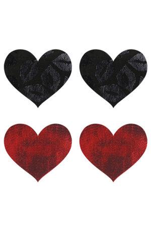 Peekaboo Pasties Stolen Kisses Hearts - Nipple covers 1