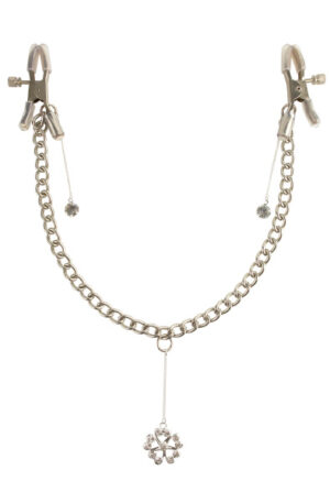 Pipedream Crystal Nipple Clamps - Bröstklämmor med kedja 1