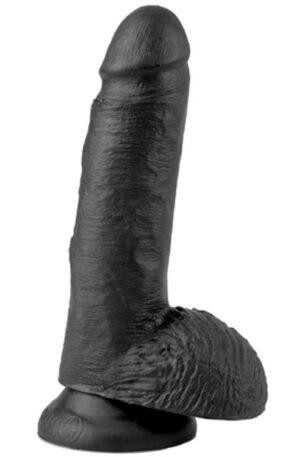 Pipedream King Cock With Balls Black 18 cm - Dildo 1