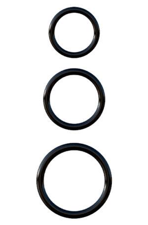 Pipedream Silicone 3-ring Stamina Set - Penisringar paket 1