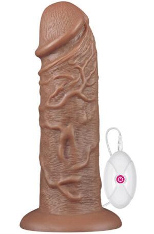 Realistic Chubby Vibrating Dildo 26,5cm - Dildo med vibrator 1