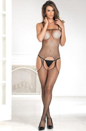 Rene Rofe Industrial Net Suspender Bodystocking - Sexiga kläder 1