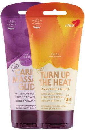 RFSU 3in1 Värmande Glid & Massage gel - Paketerbjudande 1