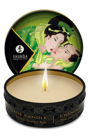 Shunga Erotic Art Massage Candle Exotic Green Tea 30ml - Doft & Massageolja 1