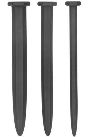 Silicone Rugged Nail Plug Set Urethral Sounding - Dilator paket 1