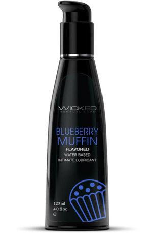 Wicked Aqua Blueberry Muffin Lube 120ml - Glidmedel med smak 1